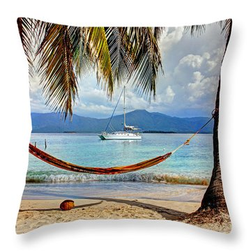 Tranquility Base Throw Pillow by Bob Hislop