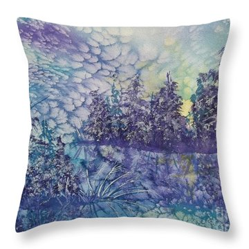 Throw Pillow featuring the painting Tranquility by Ellen Levinson