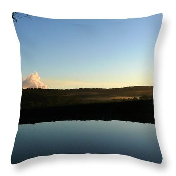 Throw Pillow featuring the photograph Tranquility by Evelyn Tambour
