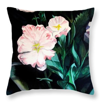 Tranquility In The Garden Throw Pillow
