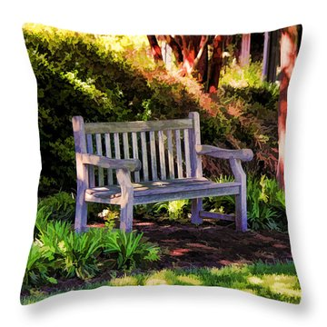 Throw Pillow featuring the photograph Tranquility In The Park by Ola Allen