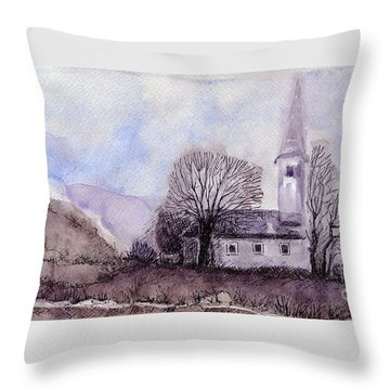 Tranquility Throw Pillow by Jasna Dragun