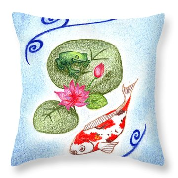 Tranquility Throw Pillow by Keiko Katsuta