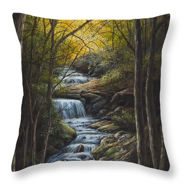 Tranquility Throw Pillow by Kim Lockman