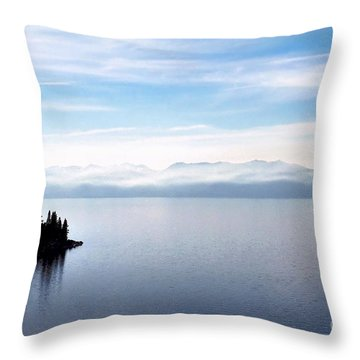 Tranquility - Lake Tahoe Throw Pillow