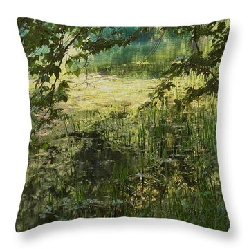 Tranquility Throw Pillow by Mary Wolf