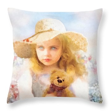 Tranquility Throw Pillow by Mo T