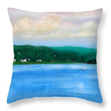 Tranquility On The Navesink River Throw Pillow