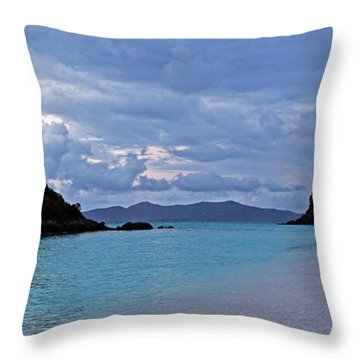 Tranquil Trunk Bay Throw Pillow