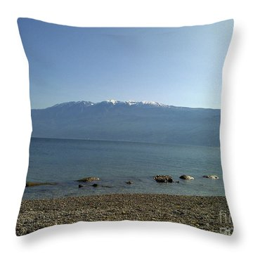 Throw Pillow featuring the photograph Tranquility by Ramona Matei