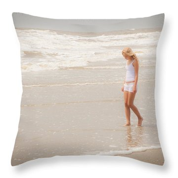 Throw Pillow featuring the photograph Tranquility by Sennie Pierson