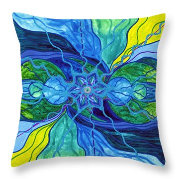 Tranquility Throw Pillow by Teal Eye  Print Store