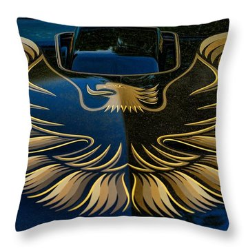 Trans Am Eagle Throw Pillow by Paul Ward