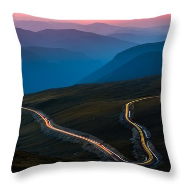 Transalpina Throw Pillow by Mihai Andritoiu