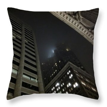 Transamerica Fog Throw Pillow by Donna Blackhall