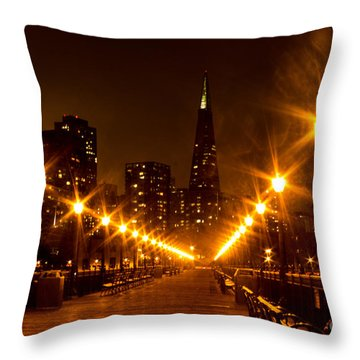 Transamerica Pyramid From Pier Throw Pillow