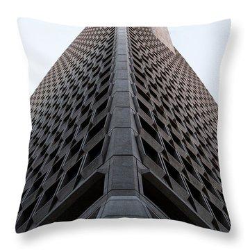 Transamerica Spine Throw Pillow by John Daly