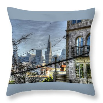 Throw Pillow featuring the photograph Transamerica View by Kevin Ashley
