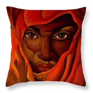 Transcendental Nubian Throw Pillow