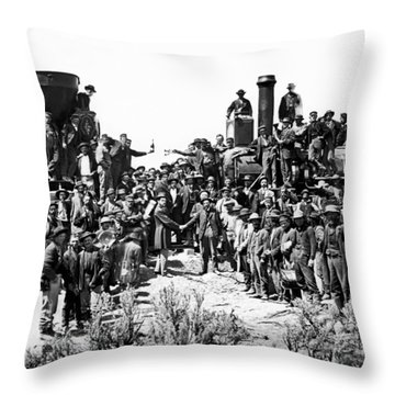 Transcontinental Railroad Throw Pillow