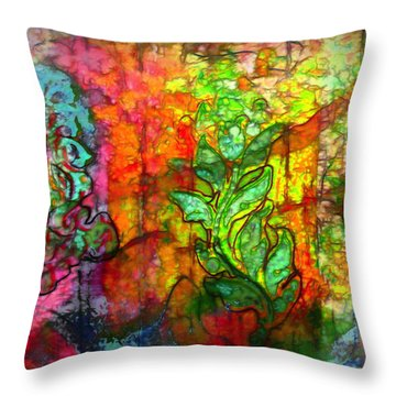 Transformation Throw Pillow by Bellesouth Studio