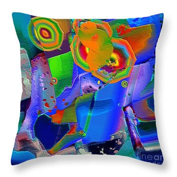 Transformation Throw Pillow by Dee Flouton