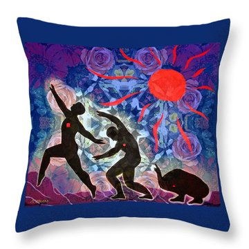 Transformation/recovery Throw Pillow
