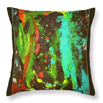 Transformation Throw Pillow by Luz Elena Aponte