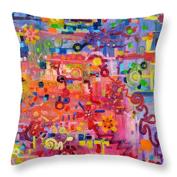 Transition To Chaos Throw Pillow