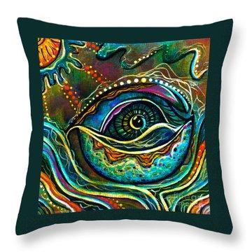 Transitional Spirit Eye Throw Pillow