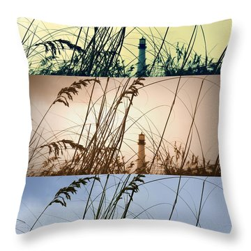 Transitions Throw Pillow by Laurie Perry