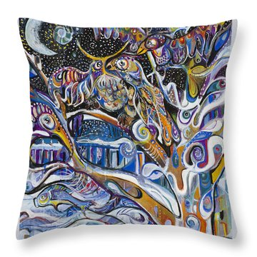 Transitions Throw Pillow by Leela Payne