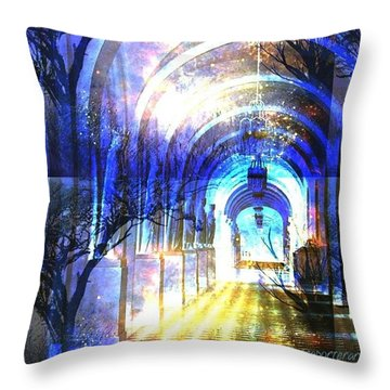 Transitions Through Time Throw Pillow