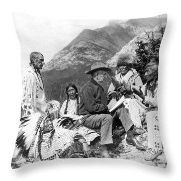 Translating Native Legends Throw Pillow