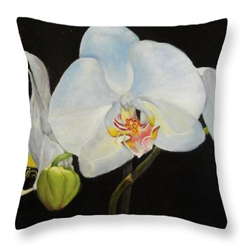 Translucent Orchids Throw Pillow