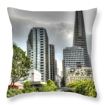 Transmerica Pyramid From The Embarcadero Throw Pillow