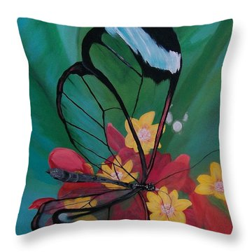 Throw Pillow featuring the painting Transparent Elegance by Sharon Duguay