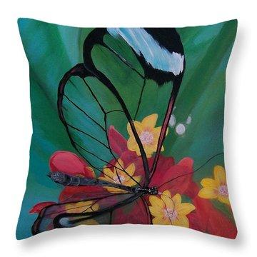 Transparent Elegance Throw Pillow