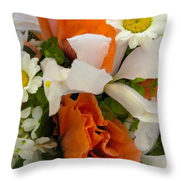 Transparent Love Bouquet Throw Pillow