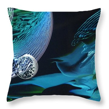 Transparent Planet Throw Pillow by Michael Kegg