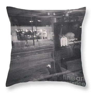 Transport For Greater #manchester Throw Pillow