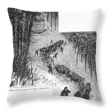 Transport Of Cannon, 1776 Throw Pillow by Granger
