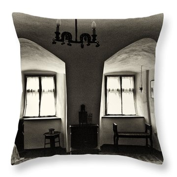 Transylvania Dracula's Castle Interior168 Throw Pillow by Dorin Stef