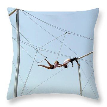 Trapeze School Throw Pillow by Brian Wallace
