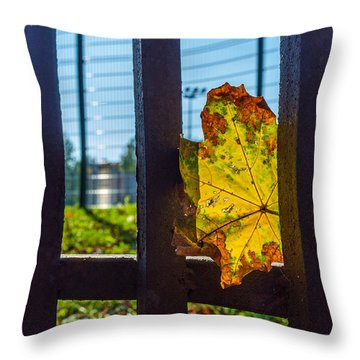 Trapped And Slowly Dying Throw Pillow