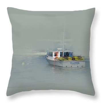 Trapped In The Fog Throw Pillow
