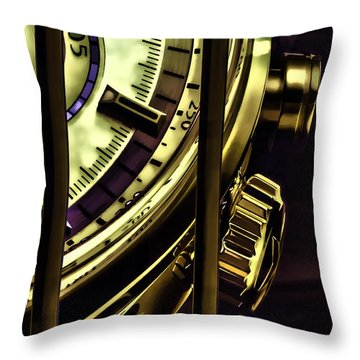 Throw Pillow featuring the painting Trapped In Time by Muhie Kanawati