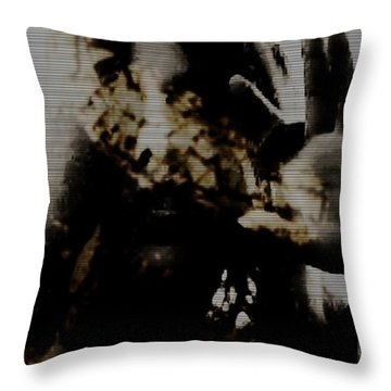 Throw Pillow featuring the photograph Trapped Inside by Jessica Shelton