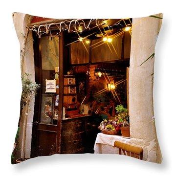 Trattoria Antonio Rome Throw Pillow