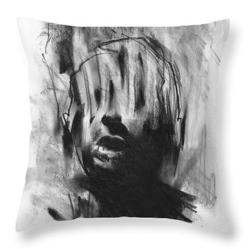 Throw Pillow featuring the drawing Gaza Trauma by Paul Davenport